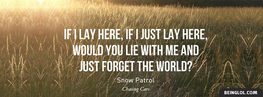 Chasing Cars Lyrics By Snow Patrol Facebook Cover