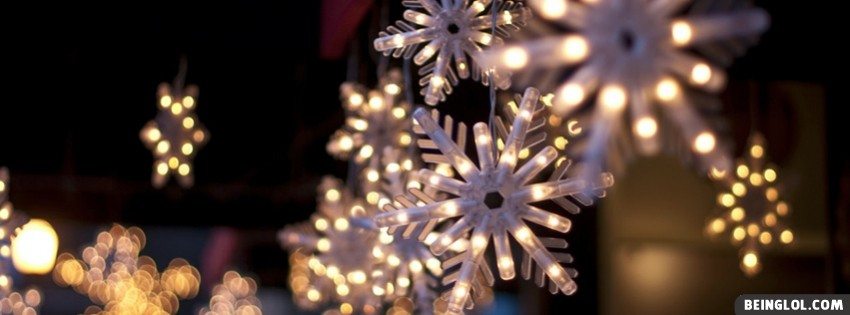 Christmas Snowflake Lights Facebook Cover Timeline Banner