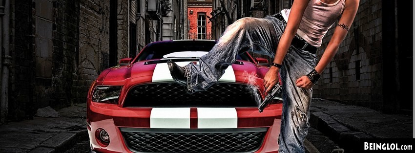 City Thug With Mustang Facebook Cover