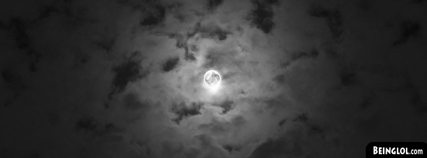 Cloudy Night Sky Moon Facebook Cover