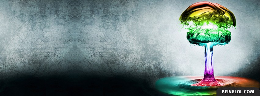 Color Water Bomb Facebook Cover