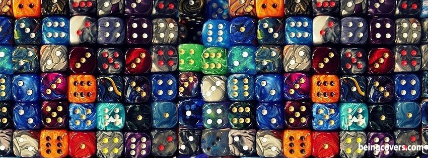 Colorful Dice Facebook Cover