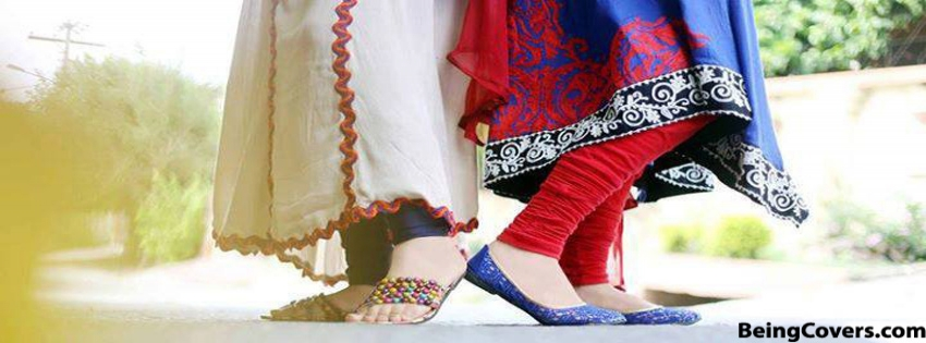 Colorful Dresses With Flat Shoes Facebook Cover
