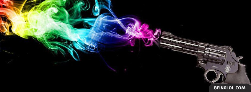 Colorful Gunshot Smoke Facebook Cover