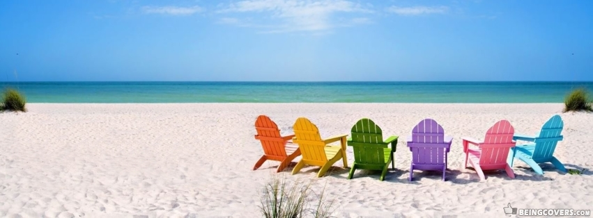 Colorful Beach Chairs Facebook Cover