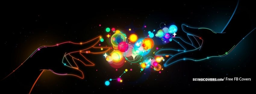 Colourful Abstract Hands Facebook Cover