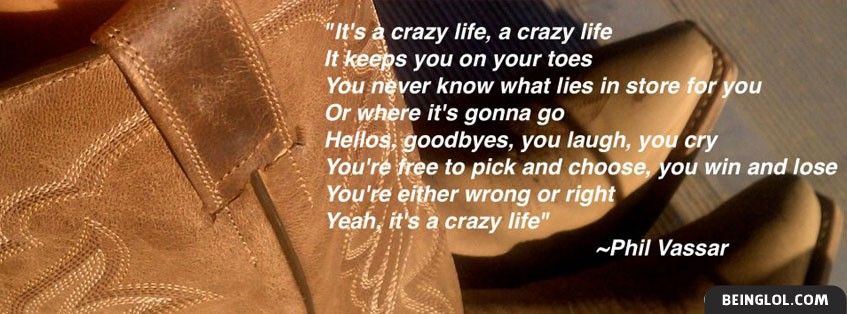 Crazy Life Lyrics By Phil Vassar Facebook Cover