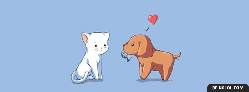 Cute Animal Love Facebook Cover