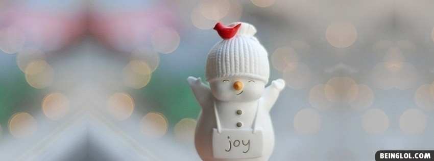 Cute Christmas Joy Snowman Facebook Cover