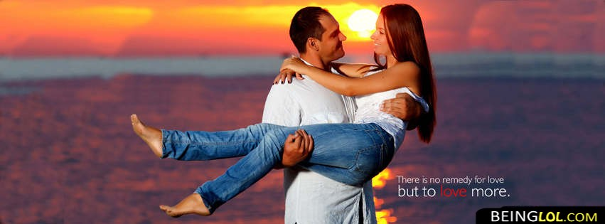 Cute Couple In Beach Facebook Cover