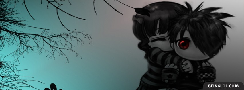 Cute Emo Love Facebook Cover