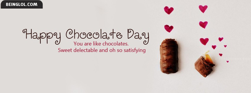 Cute Happy Chocolate Day Facebook Cover