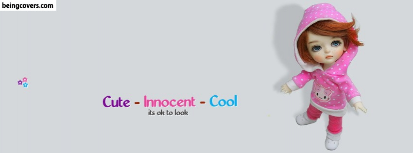 Cute Innocent Cool Doll Facebook Cover