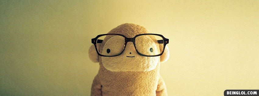 Cute Nerdy Teddy Facebook Cover