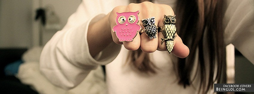 Cute Owl Rings Facebook Cover