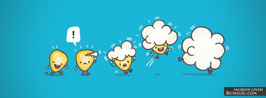 Cute Popcorn Facebook Cover