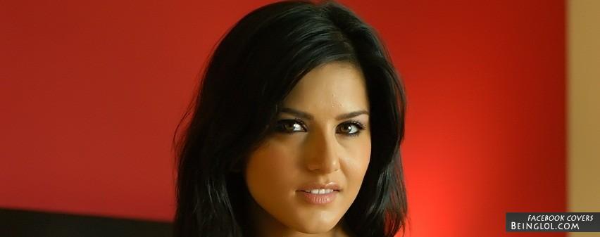 Cute Sunny Leone Facebook Cover
