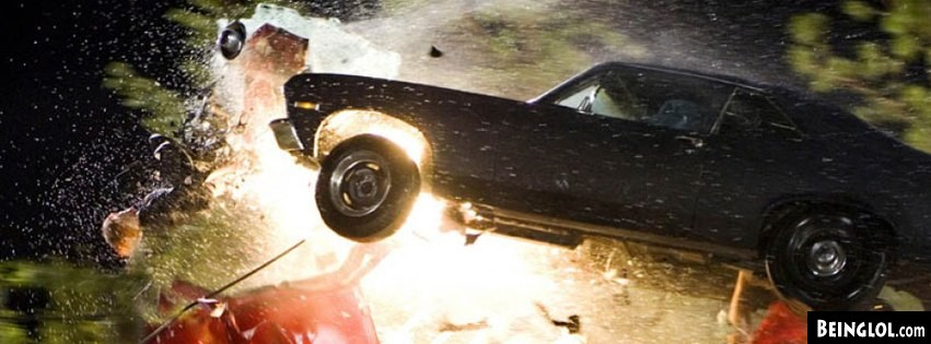 Deathproof Tarantino Car Crash Facebook Cover