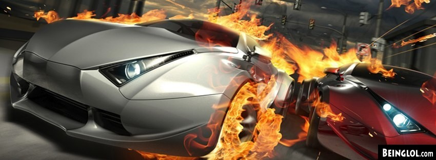 Destructive Cars Facebook Cover