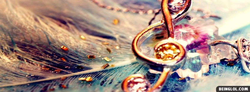 Diamond Treble Clef Facebook Cover
