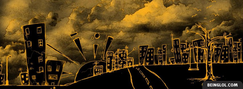 Distorted City Facebook Cover