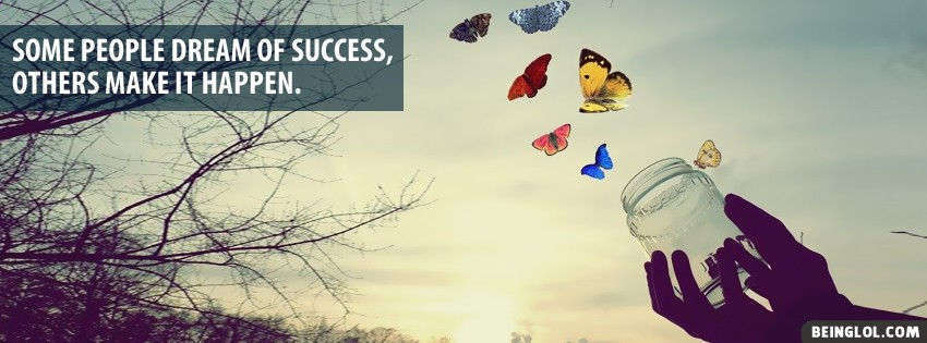 Dream Of Success Facebook Cover