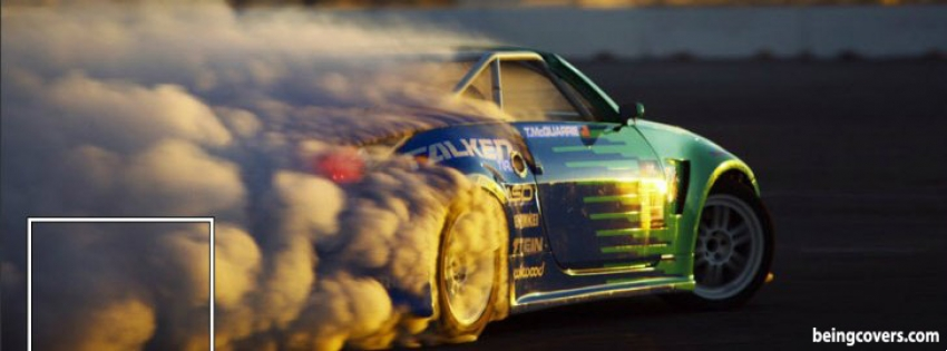 Drifting Car Facebook Cover