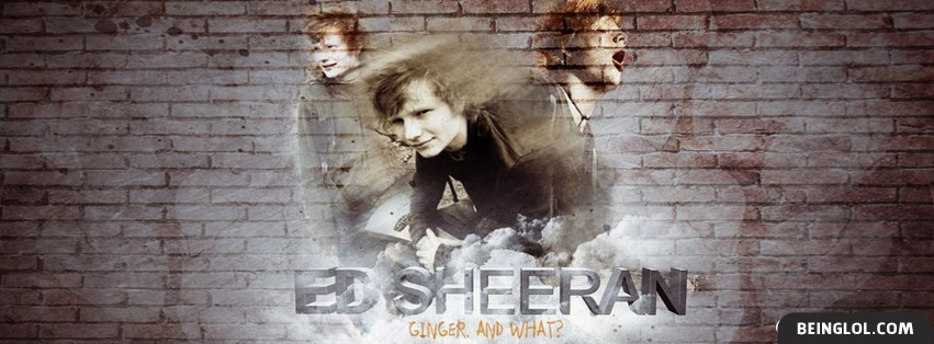 Ed Sheeran 3 Facebook Cover