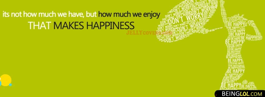 Enjoy Happiness Quote Facebook Cover