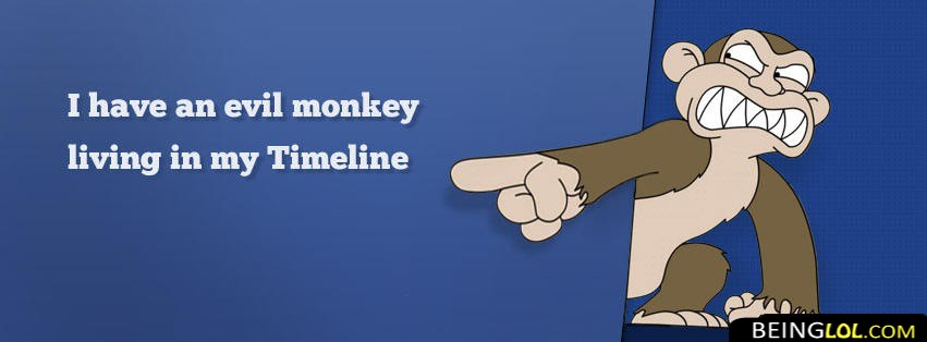 Evil Monkey Funny Facebook Cover