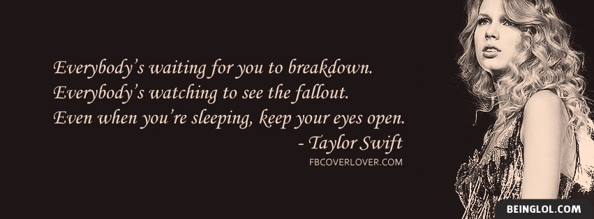 Eyes Open By Taylor Swift Lyrics Facebook Cover