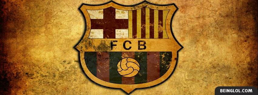 FC Barcelona Faded Logo Facebook Cover