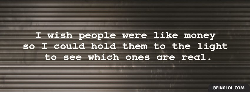 Fake People Facebook Cover