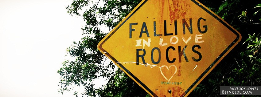 Falling In Love Rocks Facebook Cover