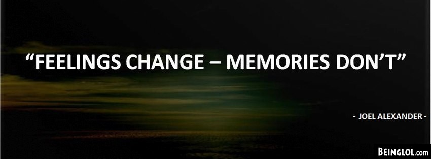 Feelings Change Facebook Cover