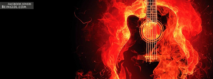Fire Guitar Facebook Cover