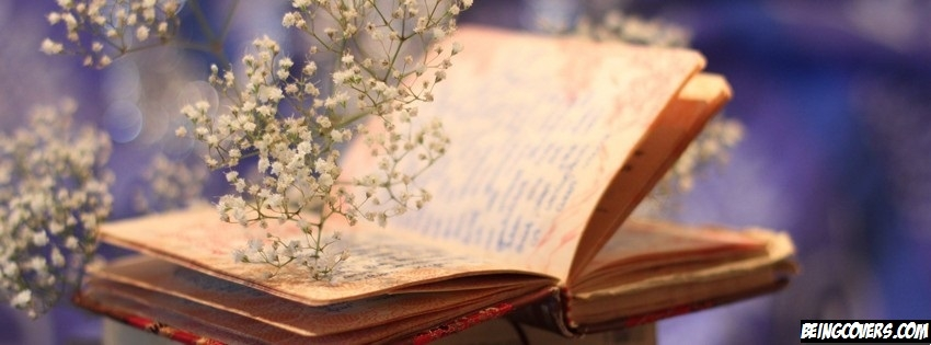 Flowers Book Bokeh Facebook Cover