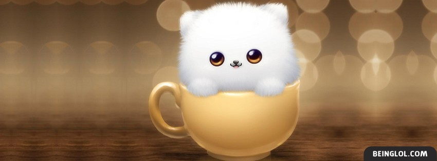 Fluffy In A Cup Facebook Cover