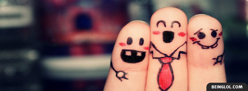 Friends Forever Cute Fingers Facebook Cover