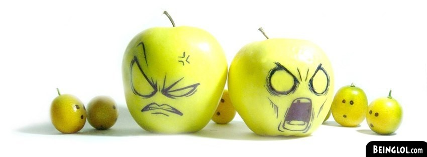 Funny Apples Facebook Cover