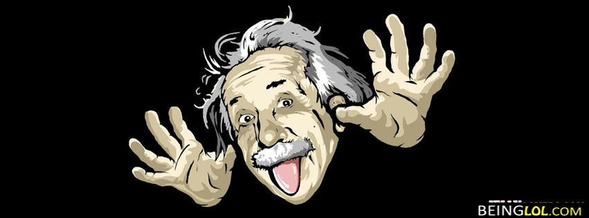 Funny Einstein Facebook Cover