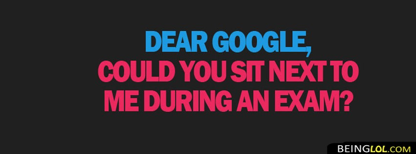 Funny Letter To Google Facebook Cover