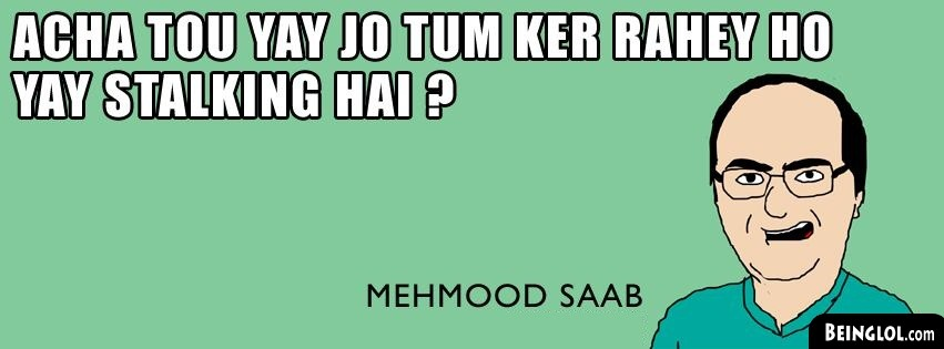 Funny Mehmood Saab Facebook Cover