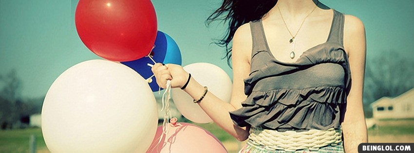 Girl Balloons Facebook Cover