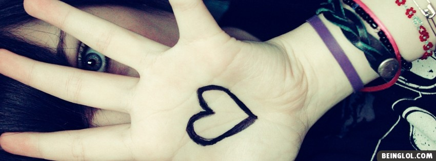 Girl Hand Heart Facebook Cover