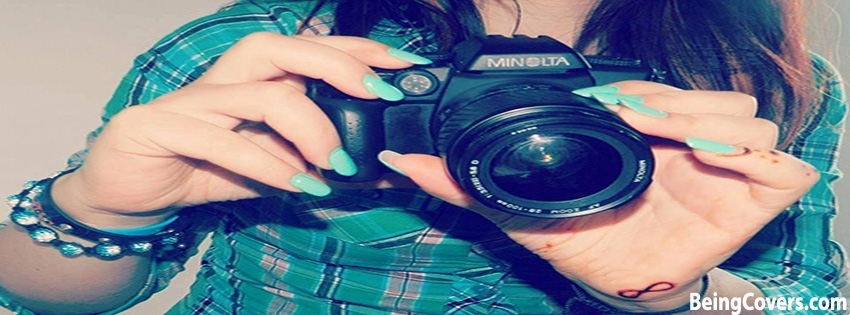 Girl Holding Camera Facebook Cover
