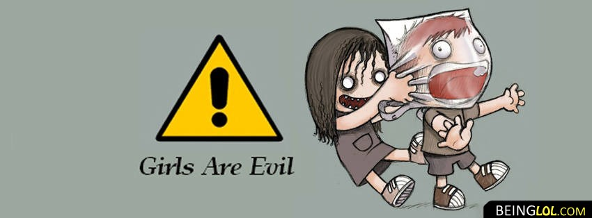 Girls are evil facebook cover Cover