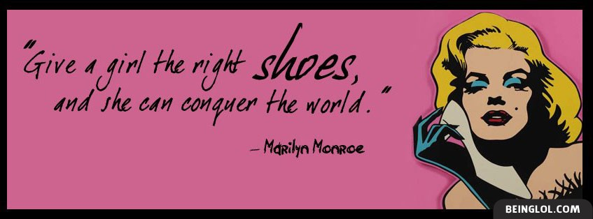 Give A Girl The Right Pair Of Shoes Facebook Cover