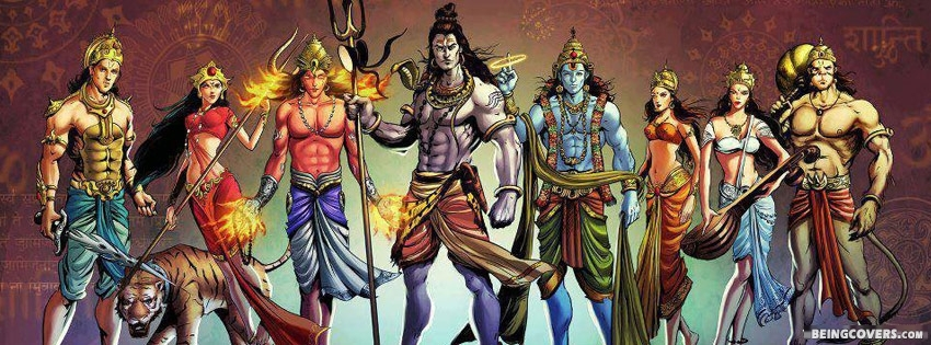 Gods Of Hindu Facebook Cover