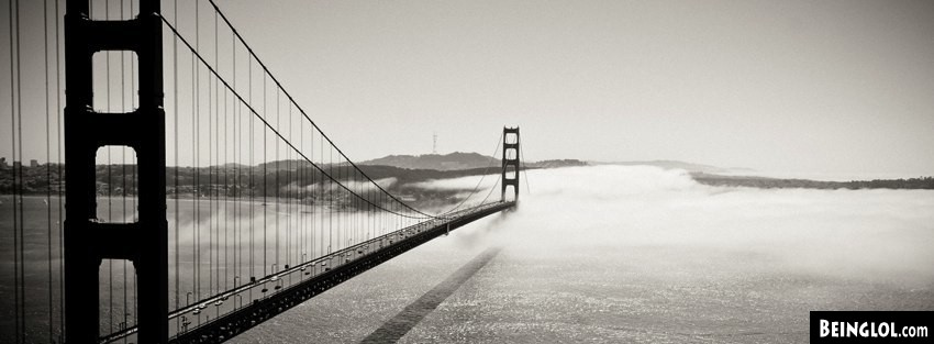 Golden Gate Bridge Fog Facebook Cover